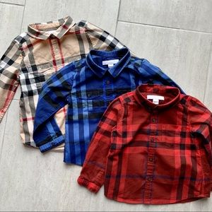 🎄Bundle 3 Burberry Button Down for Kids
